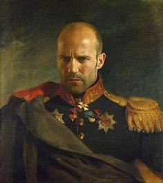 Jason Statham in the uniform of a Russian general