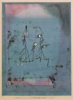 Klee, Paul  Twittering Machine  (Die Zwitschermaschine)  1922  Watercolor and pen and ink on transfer drawing on paper mounted on cardboard  64.1 x 48.3 cm (25 1/4 x 19 in.)  Museum of Modern Art, New York