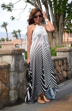 Wallis-US-black-and-white-striped-maxi-dress