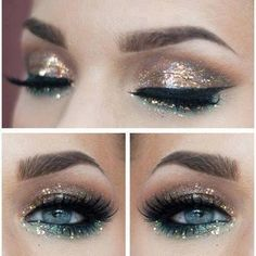 Glitter, Makeup and New year's makeup on Pinterest