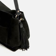 Image 3 of SPLIT SUEDE HANDBAG from Zara