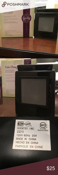 Scentsy Warmer: NIB Cube Ebony NIB EBONY GALLERY CUBE SCENTSY WARMER Scentsy Other