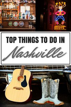 Welcome to Music City, where country music thrives and live music plays nearly every night. But there is more to Nashville than just the honky-tonks. Check out these top things to do in Nashville!    Nashville | Tennessee | United States | Road Trip | Things to do in Nashville