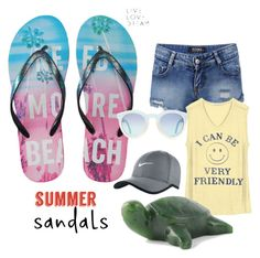 """""""simple summer"""" by suzannekobb on Polyvore featuring Aéropostale, Junk Food Clothing, NIKE and summersandals"""