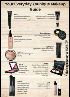 Younique Makeup Guide #Primer, #Foundation, #Bronzer, #Blush, #EPIC, #EpicMascara, #gift, #Younique LiveLaughLoveBeYounique.com