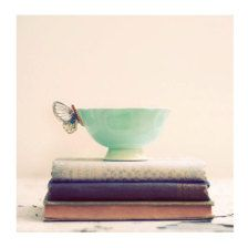 still life photography of books | Still Life Photograph, Tea and Books, Shabby Chic Photo, Vintage ...