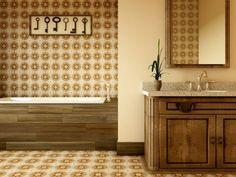 Marokkanische Fliesen Zementfliesen Interirdesign Ideen Wohnung Design  Anders Denken Mosaik Fliesen Kreative Wandgestaltung Braun