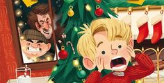 Fox has released a batch of new Home Alone merchandise for the holiday season including a John Candy figure, board game and Kevin Funko Pop! Kids Reading Books, Kids Story Books, Alone Art, Home Alone, Christmas Images, Christmas Movies, Cute Christmas Wallpaper, Rare Stamps, Christmas Paintings
