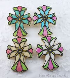 How to create a Stained Glass effect on a cookie.