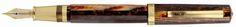 Omas Arte Italiana Arco Paragon Brown Gold Trim Fountain Pen - Omas