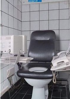 Talk about multi-tasking.  I see employers doing this in employee rest rooms someday.