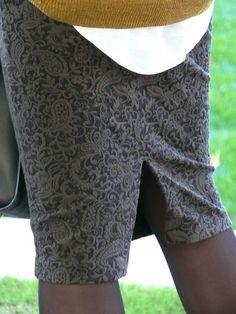 tuto détaillé angle droit La jupe tube de l'automne!