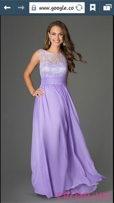 Pretty dress for prom light purple lace