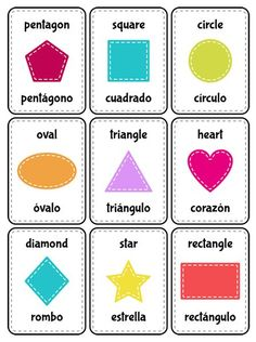 Punchy image in free printable shape flashcards