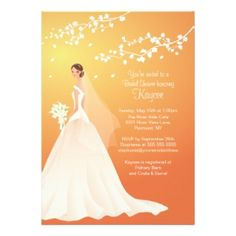 Autumn / Fall Bridal Shower Invitations