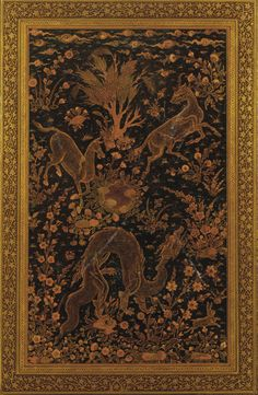 Lower cover of a bookbinding   late 18th-early 19th century   Leather over card ; block-stamped; H: 23.3 W: 14.8 cm; Turkey