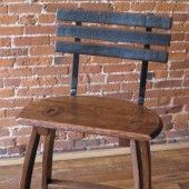 Chair made from wine barrels
