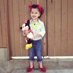 Gemma's Rockabilly Kid Disneyland Outfit  Shirt: Target  Jeans: Gap  Shoes: Toms