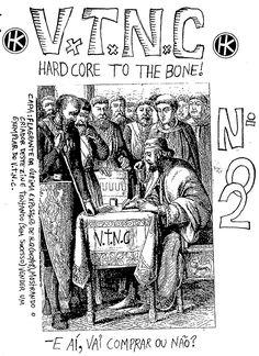 """""""V.T.N.C."""" Nº 02. Fanzine de histórias em quadrinhos de autoria de Artur Araújo. Sem data de lançamento."""