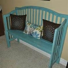 crib repurpose. On my list of things to do. Pinterest helps this list get longer by the second :)