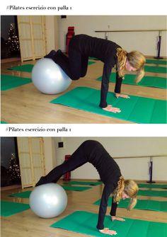#Pilates esercizio con #palla. Posizione 1 e 2 #exerciseball