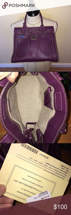 Vintage Downey & Bourke Purple Medium Tassel Tote Vintage Downey & Bourke Purple Medium Tassel Tote! 💯Authentic and still has the registration card! I bought it over 15 years ago and just found this beauty in the closet! Perfect condition!! Dooney & Bourke Bags Totes