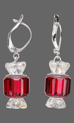 Earrings with SWAROVSKI ELEMENTS and Czech Pressed Glass Beads