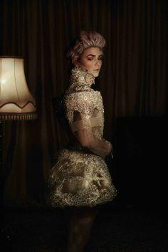 dress/haljina: @Matija Vuica, shoes/cipele: Uterqüe, styling: #PetraNizetic, make up: #MihaelaDodić za #Illamasqua, hairstyle: #IvanaBilandzijaBilly, location/lokacija: atelier Matije Vuice, Zagreb, photo: #LukaNizetic, source/izvor: #modakomoda How To Make Clothes, High Collar, Royals, Corset, Dubai, Fall Winter, Feminine, Elegant, Lady