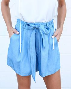 Cassidy Chambray Shorts - ITEM OF THE DAY
