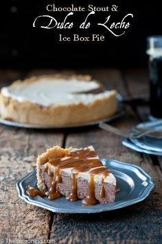 Chocolate Stout and Dulce de Leche Ice Box Pie @Jackie Dodd