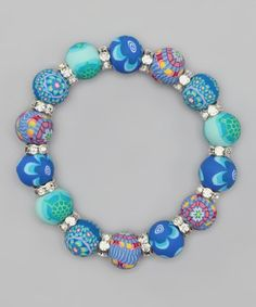 Take a look at this Timeless Turtle Chunky Crystal Stretch Bracelet by Viva Beads on @zulily today!