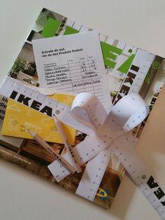 IKEA voucher – gift packaging with free accessories from Ikea ♡ - Gave Ideer Gift Coupons, Wordpress, Yarn Over, Gift Packaging, Party Gifts, Birthdays, Gift Wrapping, Wraps
