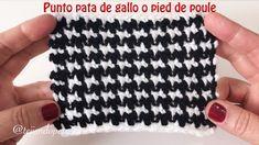 Punto pied de poule tejido a crochet (pata de gallo)