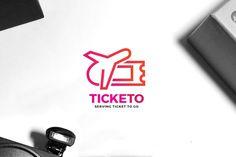 Travel Ticket Logo #ticket #icon • Download here → http://1.envato.market/c/97450/298927/4662?u=https://elements.envato.com/travel-ticket-app-logo-5ZDA5D
