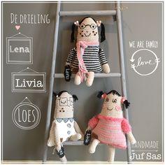 We Are Family, Crochet Hats, Dolls, Children, Handmade, Fairy, Garden, Toys, Amigurumi