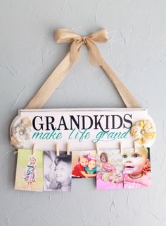 A grandparent is born personalized frame grandparents birth and grandkids make life grand sign gift for grandparents grandparents sign grandparents gift negle Images
