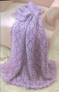 Baby Afghan - pattern link no longer viable but I can figure this out from the picture.