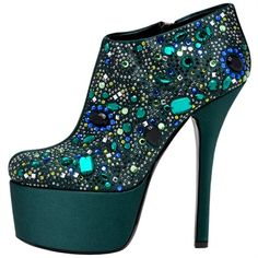 I wish the platform were shorter. But the glitz makes me smile. (Mosaic Stiletto in Blue | Dolce & Gabanna) A favorite repin of VIPFashionAustralia.com Visit site to access BUY 1 GET 1 FREE SHOE SALE ON ALREADY DISCOUNTED DESIGNER SHOES!!! ON NOW!