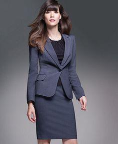 Calvin Klein Petite Suit Separates Collection Love this suit! Office Fashion, Work Fashion, Fashion Outfits, Business Outfits, Office Outfits, Work Outfits, Boyfriend Jeans, Petite Suits, Wedding Dress