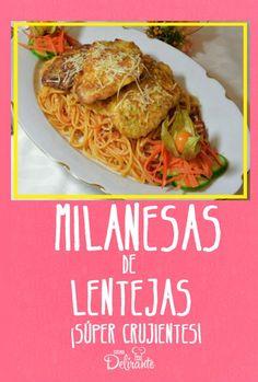 milanesas de lenteja | CocinaDelirante Good Food, Yummy Food, Going Vegan, Food Dishes, Healthy Eating, Healthy Food, Vegan Recipes, Food And Drink, Favorite Recipes