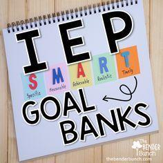 IEP goals, IEP goal banks, special education, sped goals, writing sped goals School Ot, School Social Work, School Stuff, School Ideas, Middle School, School Daze, Speech Language Therapy, Speech And Language, Speech Therapy
