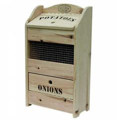 Plans of Woodworking Diy Projects - Potato Onion Bin for my kitchen Get A Lifetime Of Project Ideas & Inspiration! Craft Storage Cabinets, Craft Storage Box, Diy Kitchen Storage, Pantry Storage, Storage Bins, Wood Storage, Storage Ideas, Kitchen Pantry, Kitchen Cabinets