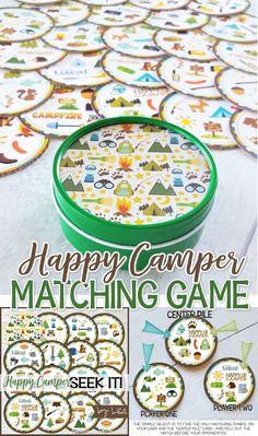 Happy Camper Seek It - Printable Matching Game!
