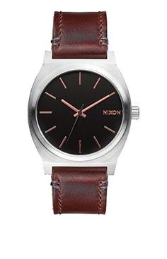 13e34043d36 Nixon  The Time Teller  Leather Strap Watch