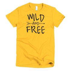 Wild And Free Boho - Short Sleeve Women's T-Shirt