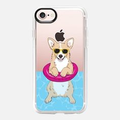 Casetify iPhone 7 Case and Other iPhone Covers - Swimming Corgi by Megan Roy | #Casetify
