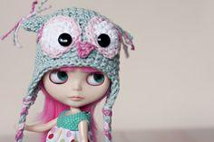 blythe with owl hat like mine :)