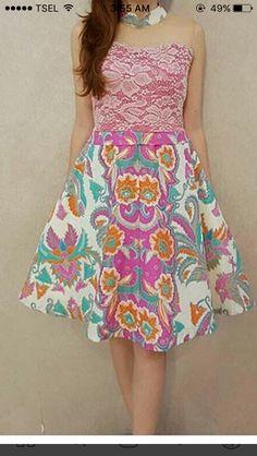 Sewing Baby Clothes, Diy Clothes, Diy Dress, Party Dress, Dress Batik Kombinasi, Batik Fashion, Skirt Patterns Sewing, Batik Dress, Fabulous Dresses
