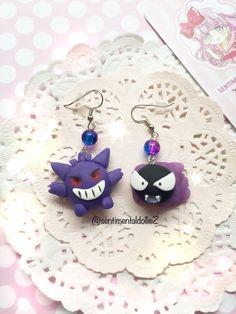 Kawaii Halloween Earrings Pokemon Earrings by SentimentalDollieZ