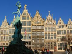The classic Flemish architecture of Antwerp